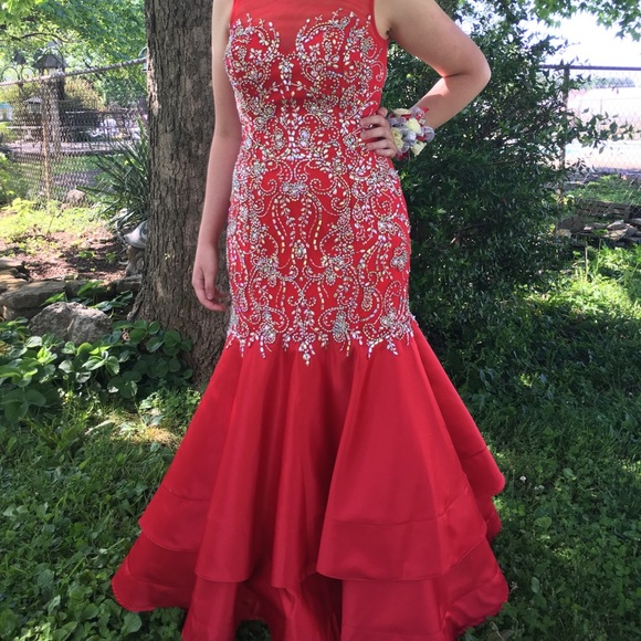 The Cool Collection Dresses & Skirts - Red Prom Dress-The Cool Collection-Size 12